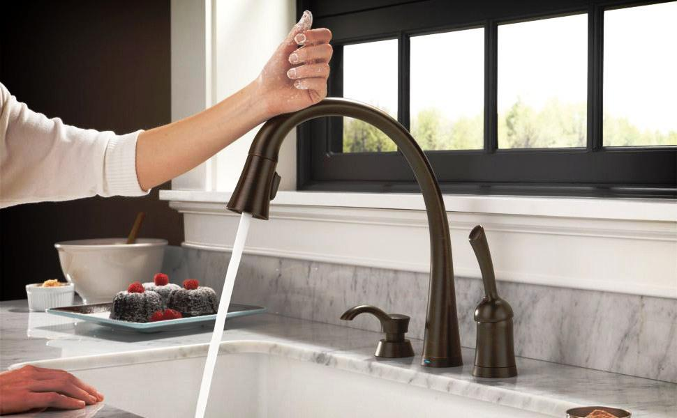 American Standard Soltura Stainless Steel 1 Handle Deck Mount Pull lowes.com Kitchen Faucets & Water Dispensers Kitchen Faucets