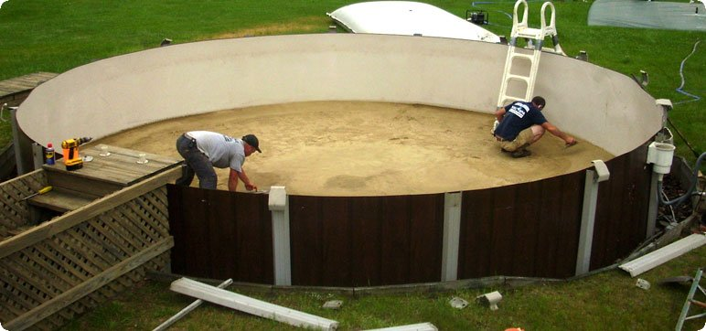 How to handle above ground pools installation pool guide for Cost of swimming pool installation inground