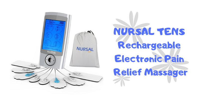 NURSAL TENS Rechargeable Electronic Pain Relief Massager