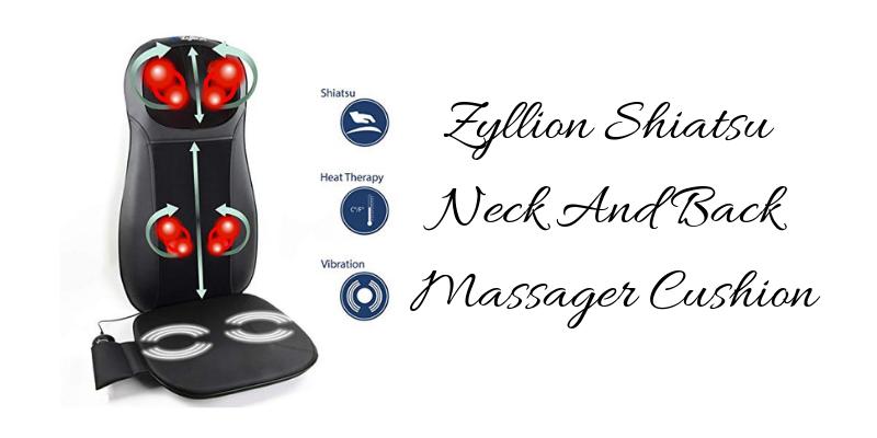 Zyllion Shiatsu Neck And Back Massager Cushion Review